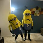 My girlfriend and I dressed up as the minions: Kevin and Stuart Minions