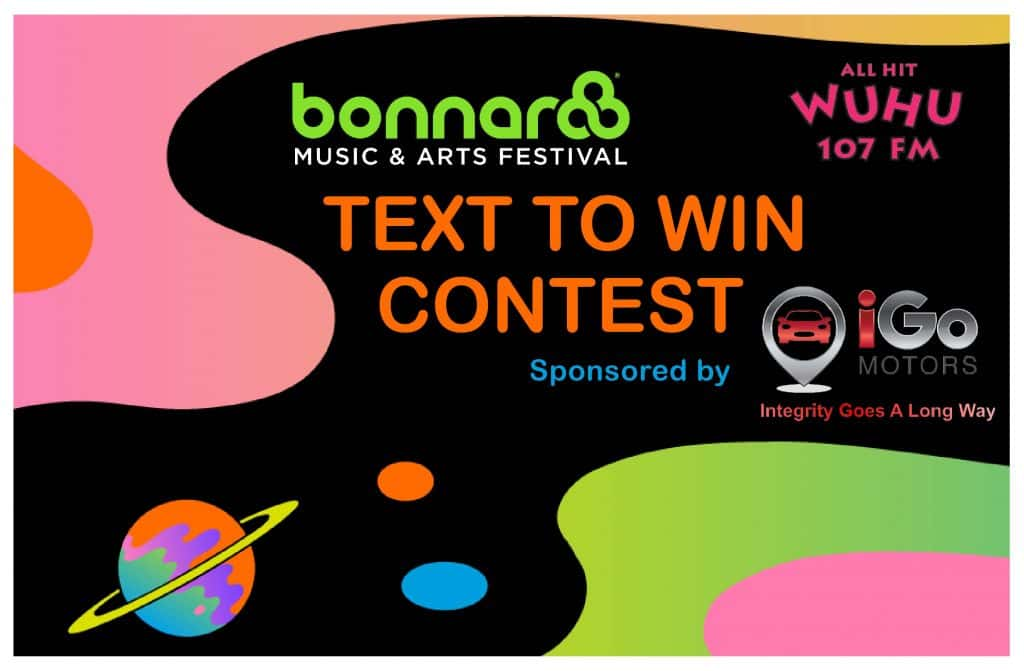 Bonnaroo Text to Win Contest