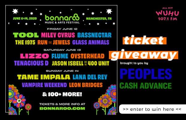 Bonnaroo Ticket Giveaway