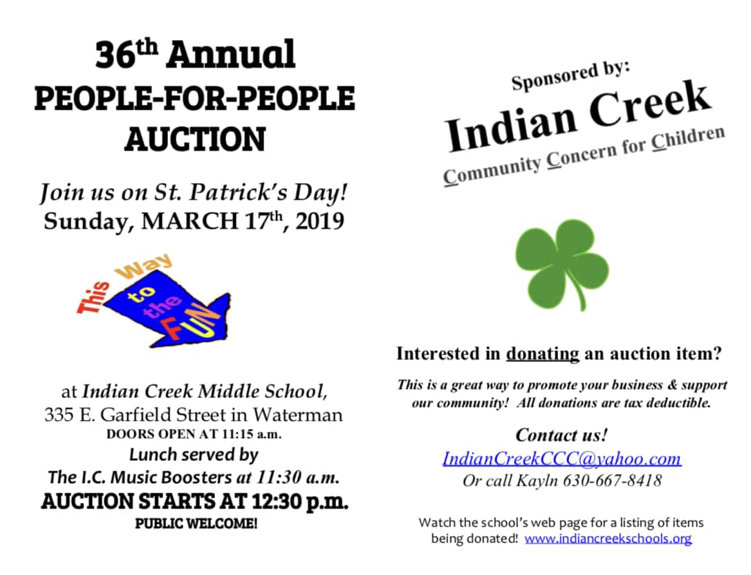 Indian Creek People-for-People Auction | 94 9 WDKB