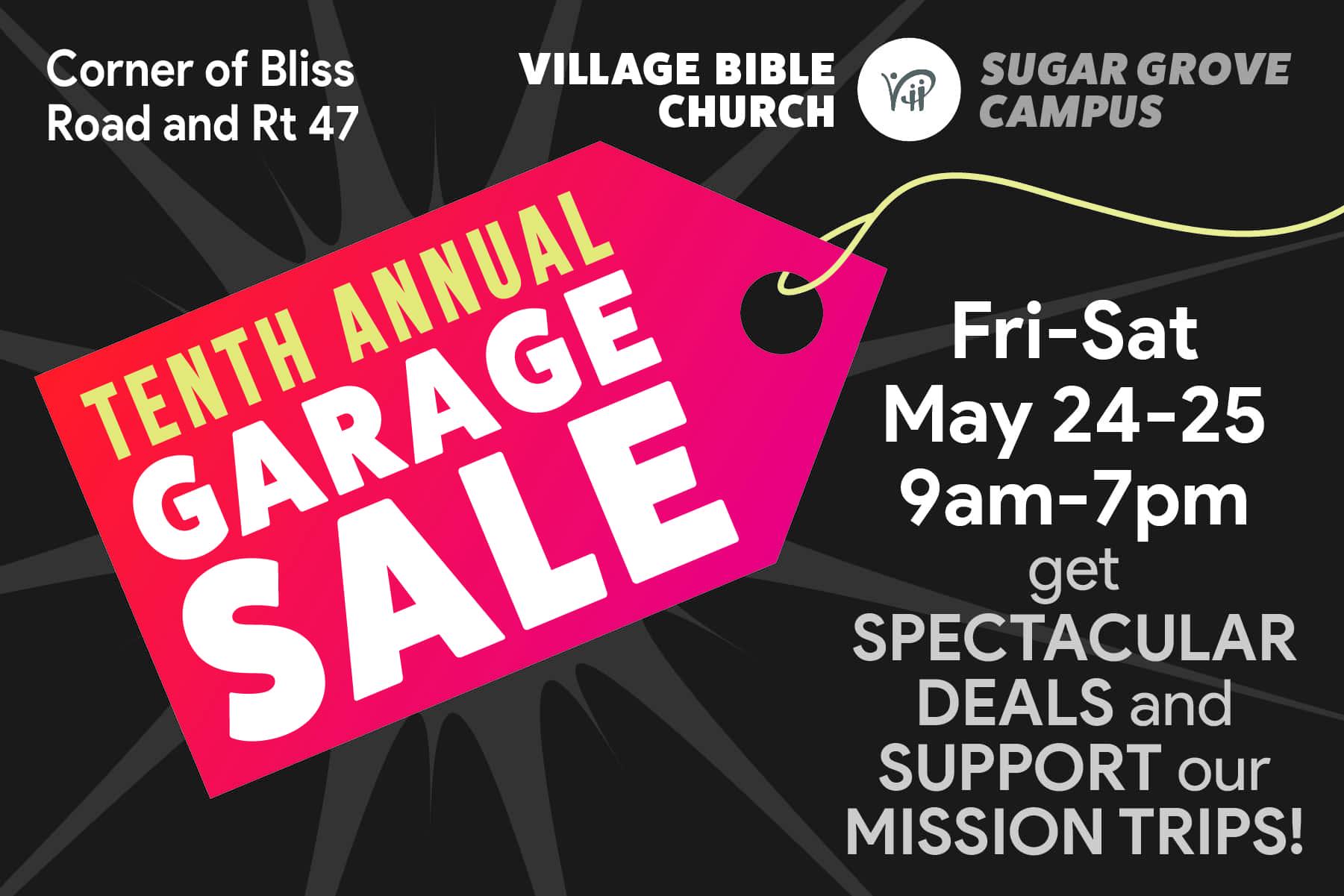 Village Bible Church Garage Sale | 94 9 WDKB