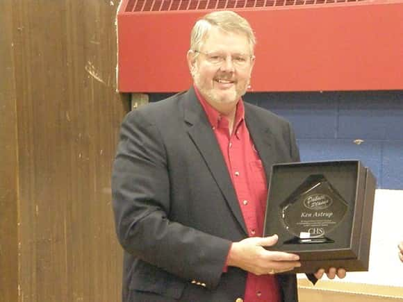 Ken Astrup recognized for his 8 years as a General Manager of Dakota Plains Cooperative.