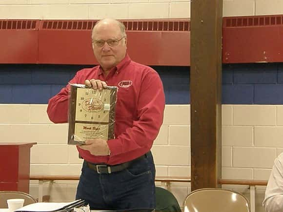 Board member Mark Bopp recognized for his service on the board will be stepping down as a new board will be formed with the merger of Dakota Ag and Dakota Plains Cooperative.