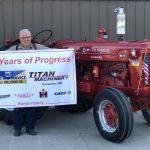 Allen Kunze family tractor celebrating 70 years of service.