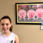 Elementary student Chesney Thomsen is the daughter of Dawn and Brent Thomsen. Her piece titled,