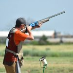 Zach-Ohma: Zach Ohma from Ramsey County takes a shot in a shotgun event at the 2019 4-H National Championships in Grand Island, Neb. (NDSU photo)