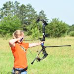 ShiAnne-Boehm: ShiAnne Boehm of Morton County takes aim in an archery event at the 2019 4-H National Championships in Grand Island, Neb. (NDSU photo)