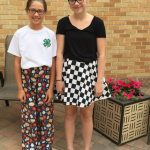 L to R; Pretten Sew 'n Show- Kylie Van Bruggen and Kaidence Harstad.