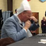 Troy Miller: Plugs his nose trying to eat pickled pigs feet.
