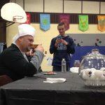 Ryan Mathias: Tries to eat a turkey gizzard.