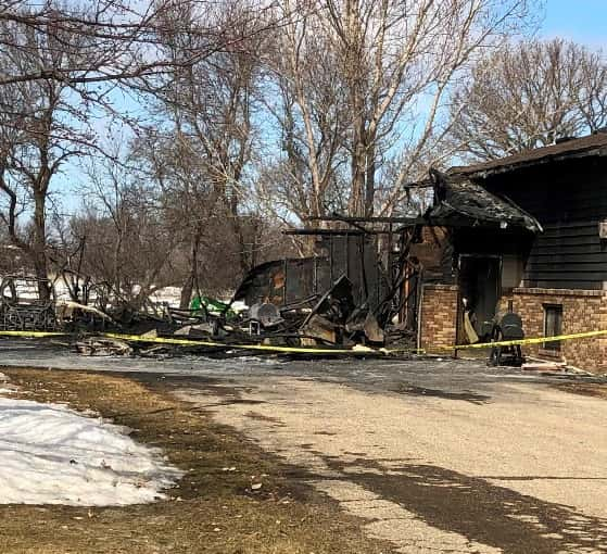 Fire Damages Garage & Home Near Valley City
