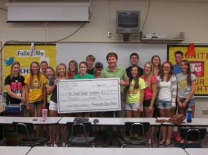 KHS Student Senate donation
