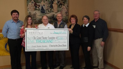 Rotary Grand Theater donation