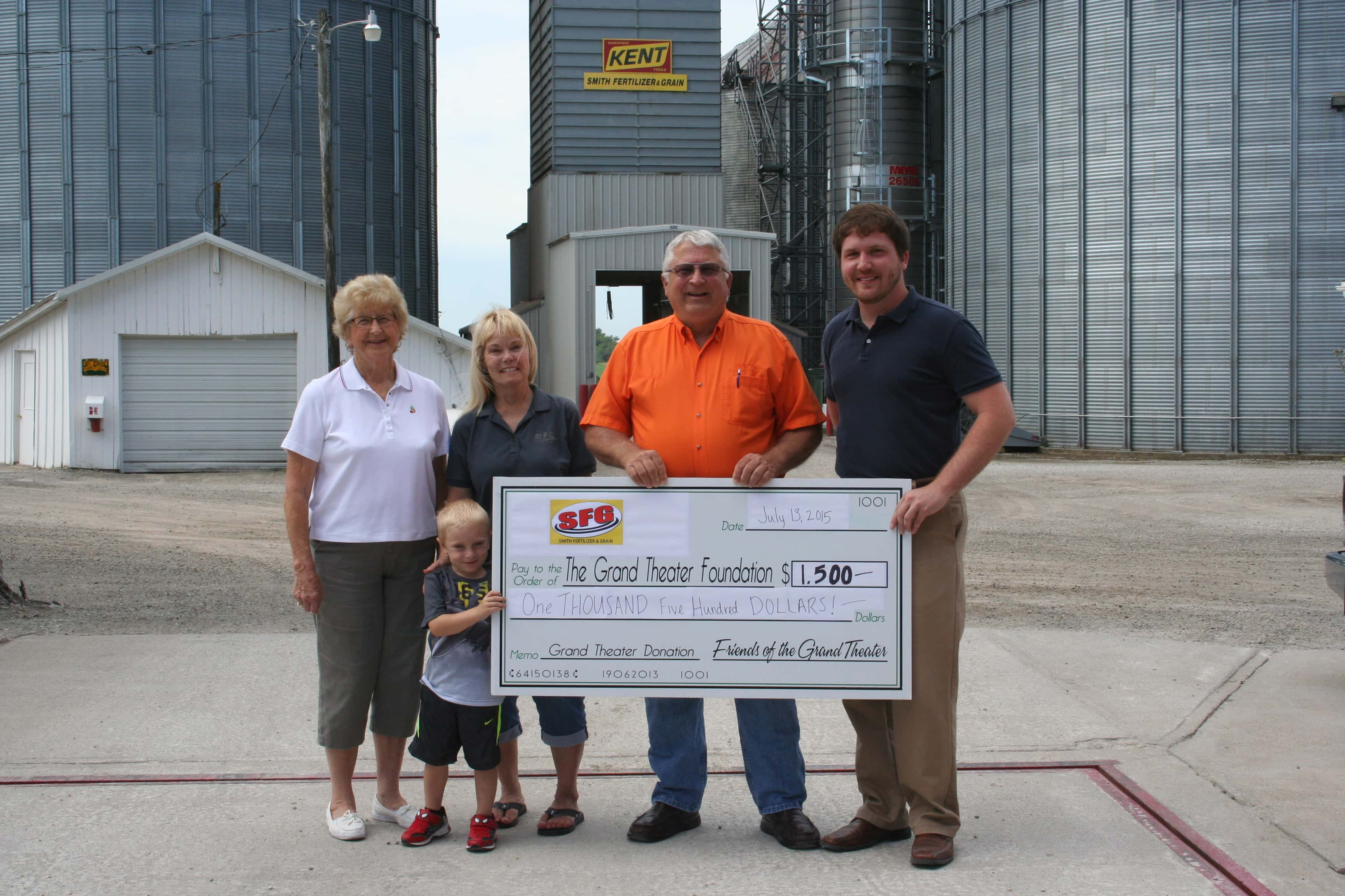 Smith Fertilzer Grand donation