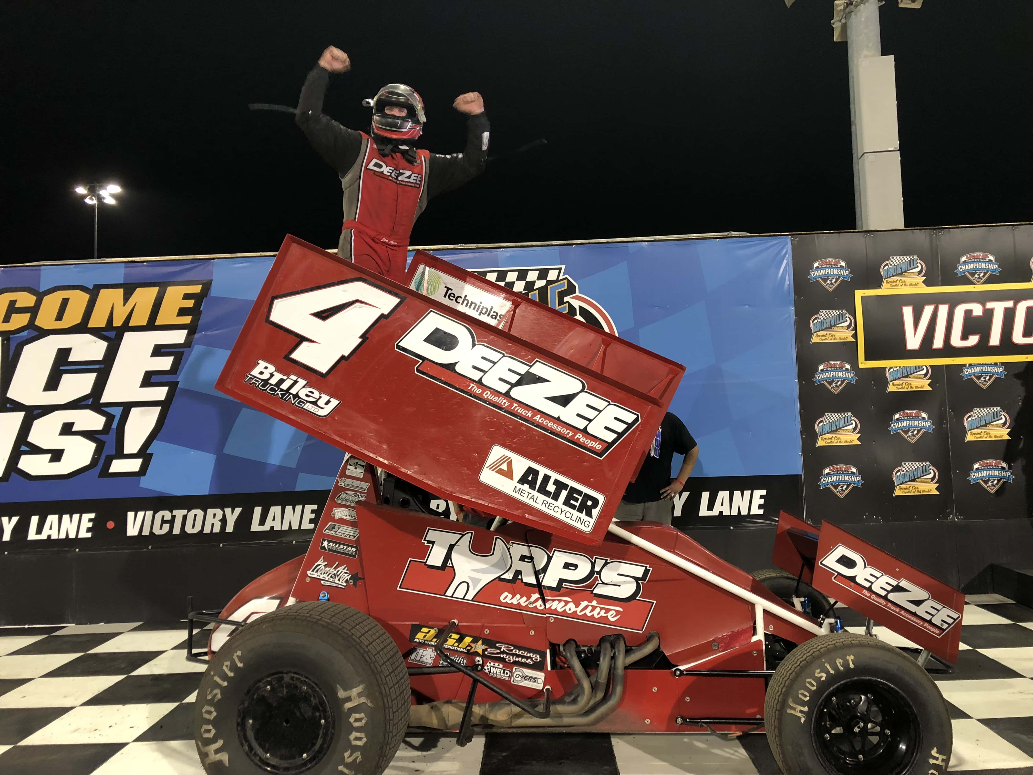 Power Outage Can't Stop Knoxville Raceway From Crowning