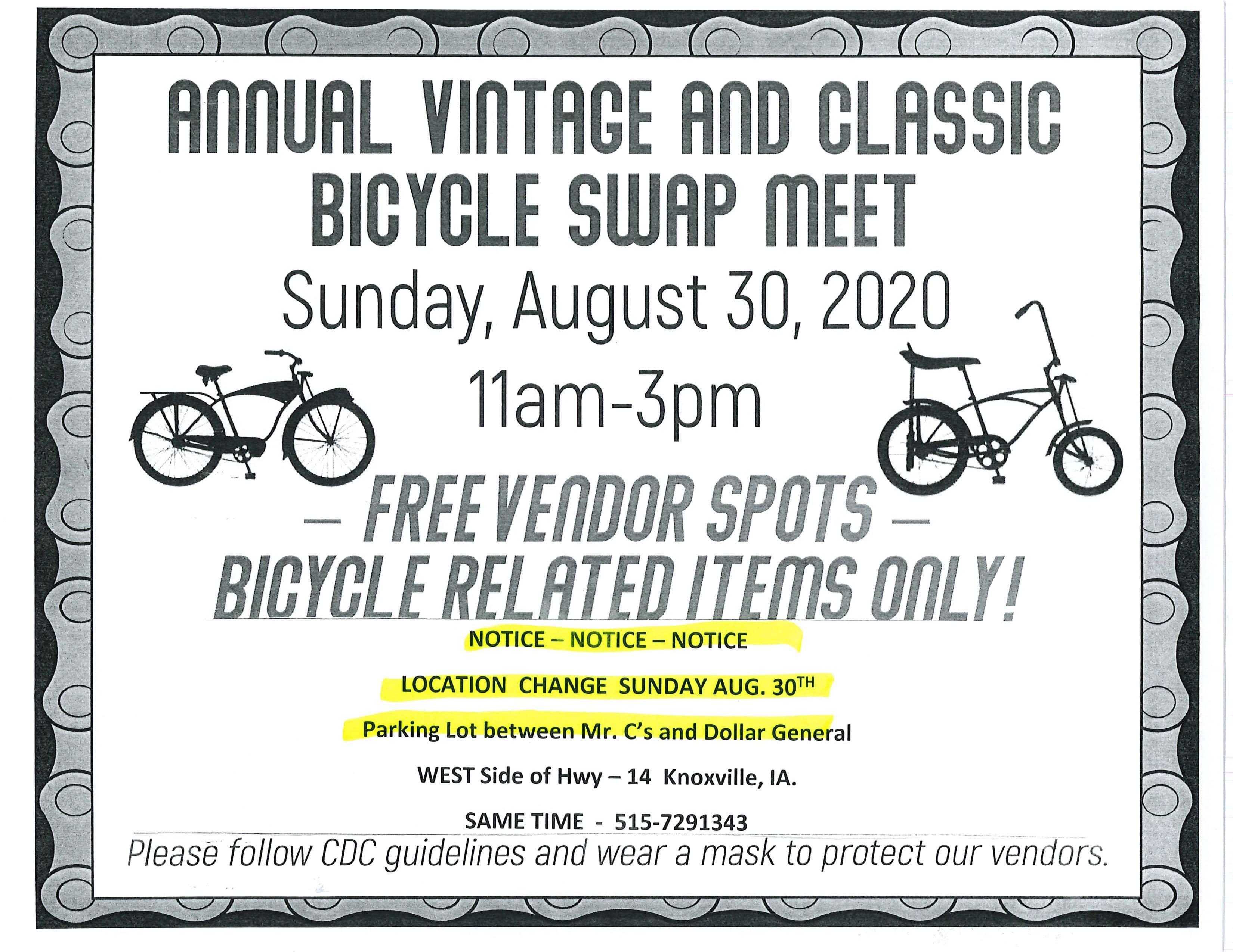 Central Iowa Vintage and Classic Bicycle Club Swap Meet Tomorrow | KNIA KRLS Radio