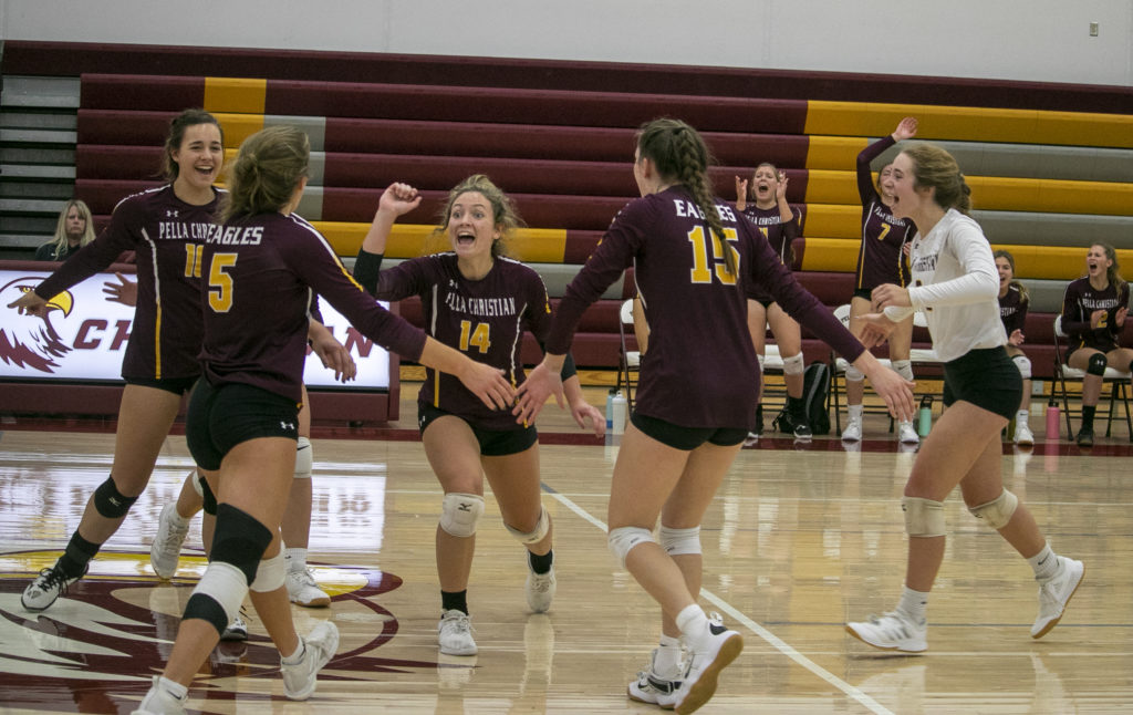 Pella Christian Aiming for Big Volleyball Upset Monday