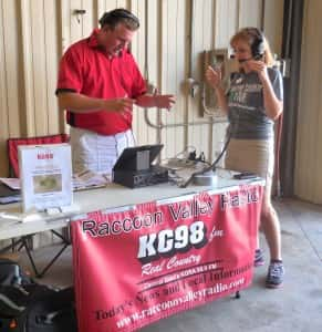 Raccoon Valley Radio's Doug Rieder interviews Dr. Cathann Kress at the fair