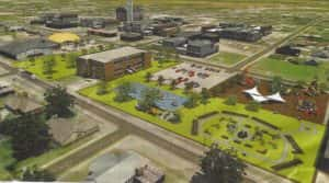 Image of 3-Block Project. Image courtesy of GCDC and Vision 2020 Committee
