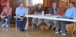 Panel in Jefferson (L-R): JD Scholten, Tim Gannon, John Delaney, David Weaver and Chuck Offenburger