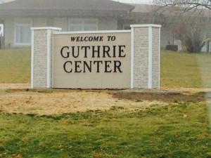 Guthrie Center Sign