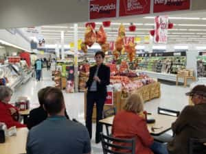 Kim Reynolds at the Perry Hy-Vee