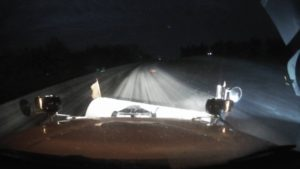 DOT Plow truck on Highway 141 near the intersection with Highway 4. Image courtesy of DOT