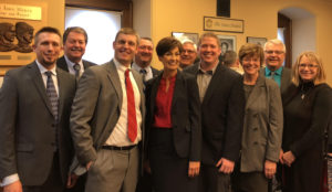 Photo of representatives from Greene County with Governor Reynolds. Photo courtesy of Chris Deal