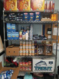 Fully stocked food shelf at the high school. Photo courtesy of Emily Gannon