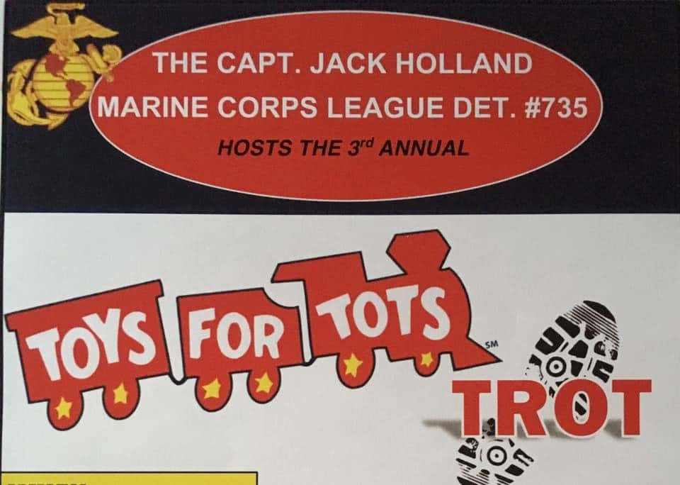 Offical Logo For Toys For Tots : Rd annual toys for tots trot froggy