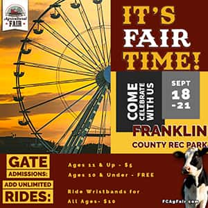 Franklin County Agricultural Fair coming Sept  18-21
