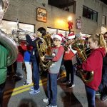 "Come-Home-10: The Benjamin Franklin Middle School band kicked off Friday night's activities with the ""Biggest Little Parade"" along Franklin Street."
