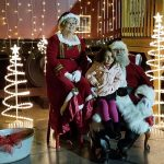 "Come-Home-4: Santa and Mrs. Claus posed for photos at the ""North Pole"" with children at the Rocky Mount train depot Friday night."