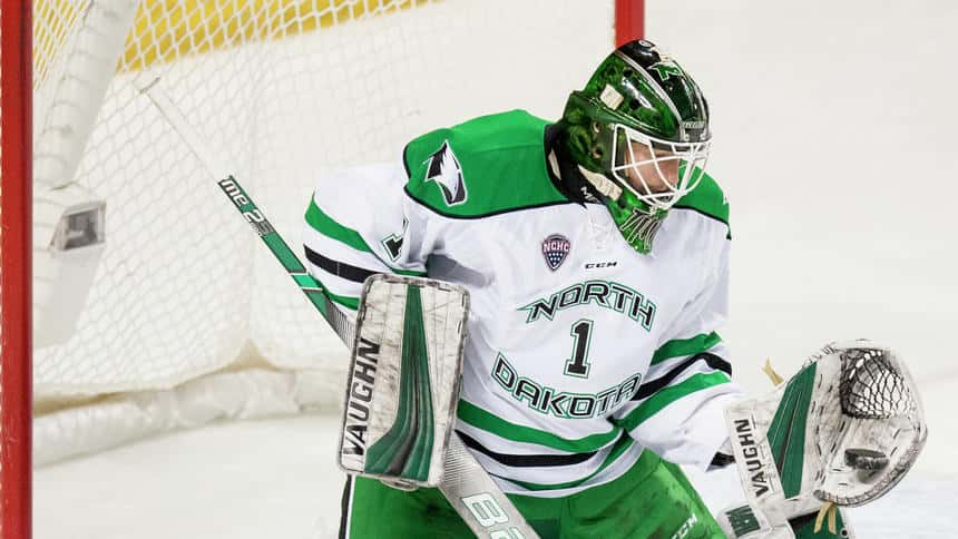 Fighting Hawks Goalie Ready For Playing Time After Teammate Goes