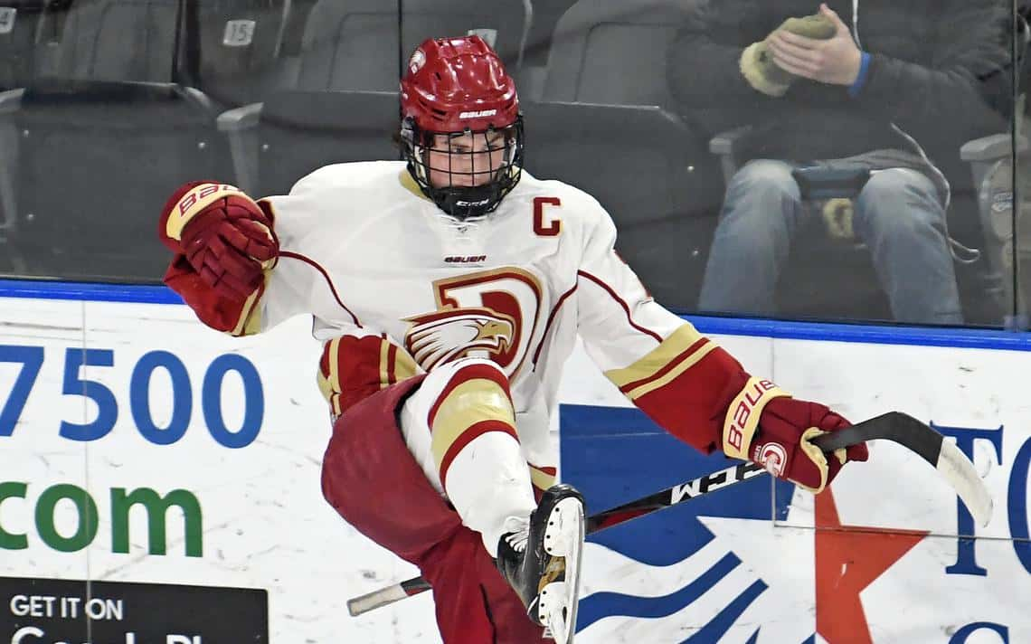 new arrival 51d41 3e49f Davies' forward notches hat trick in ND state quarterfinals ...