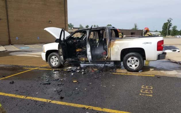 Truck Suffers Damage in Fire Sunday | WPKY 103 3 FM - 1580 AM