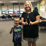 Lisa Wrightsman: Year 11 and first grader Jackson :)
