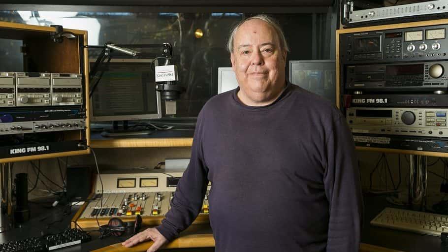 Brad Eaton in KING FM Studios