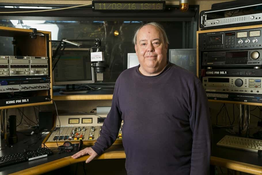 Brad Eaton in KING FM Studios