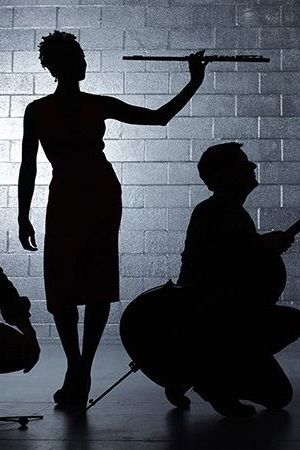 Musicians in silhouette