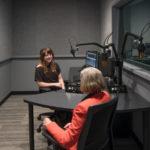 Host Maggie Molloy and CEO Brenda Barnes Chat Inside a Studio