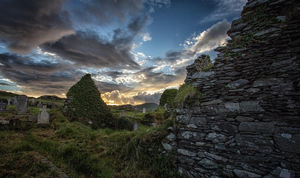 Ruins of Derrynane Abbey, photo by Marcus Rahm
