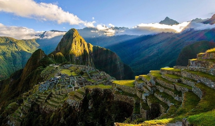 Green, mountainous landscape