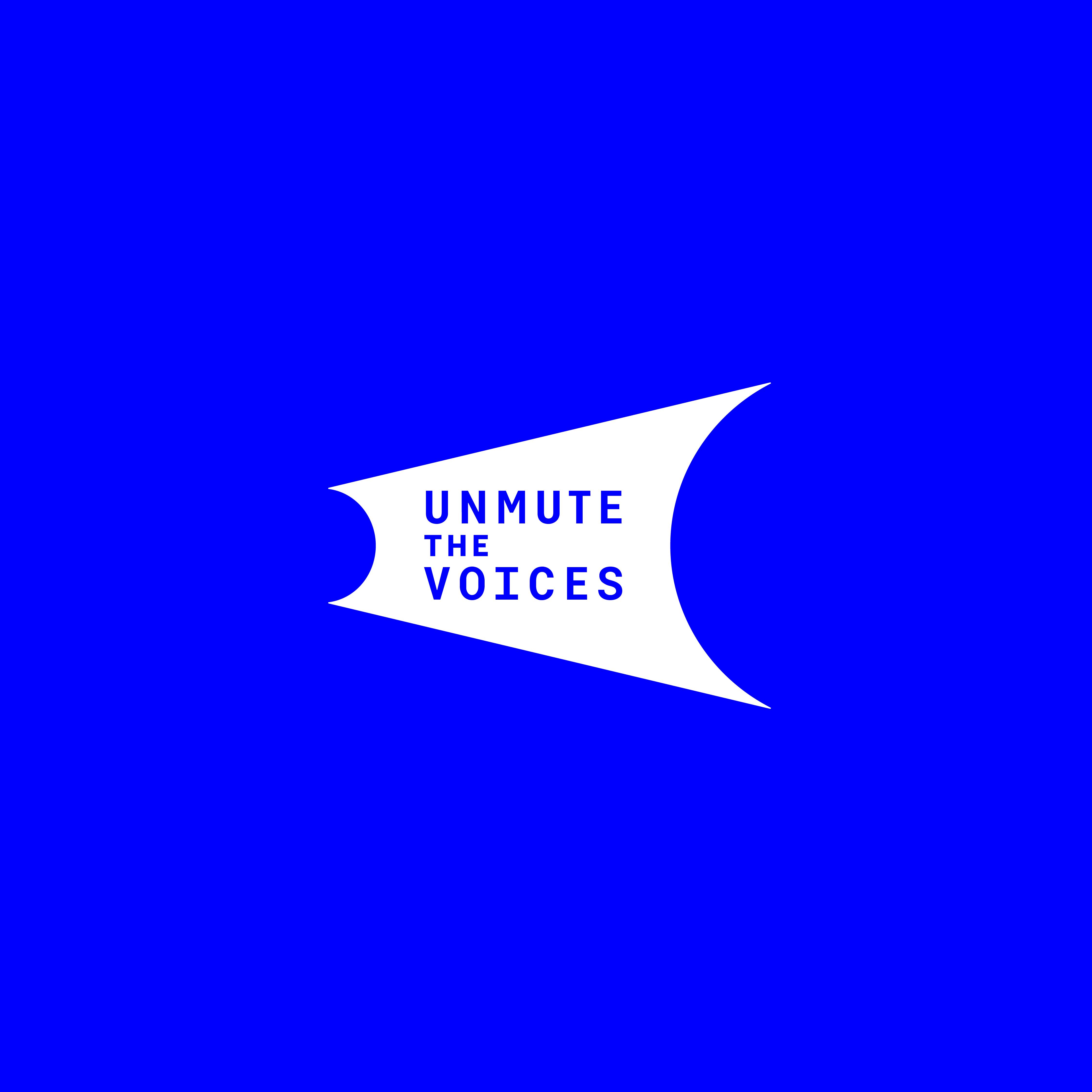 """Unmute The Voices"" logo"