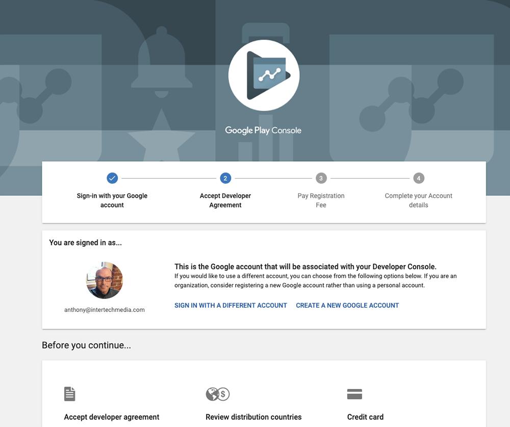 Create A Google Play Developer Account | Intertech Media