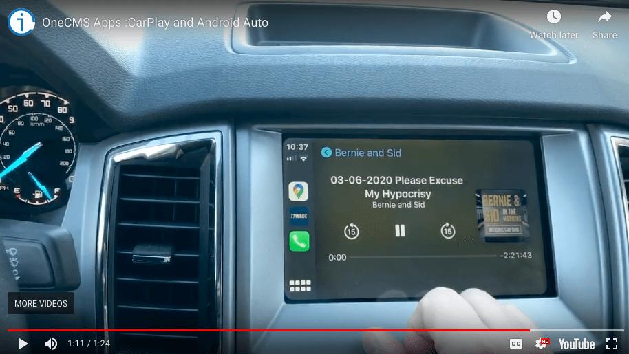youtube video screenshot of carplay