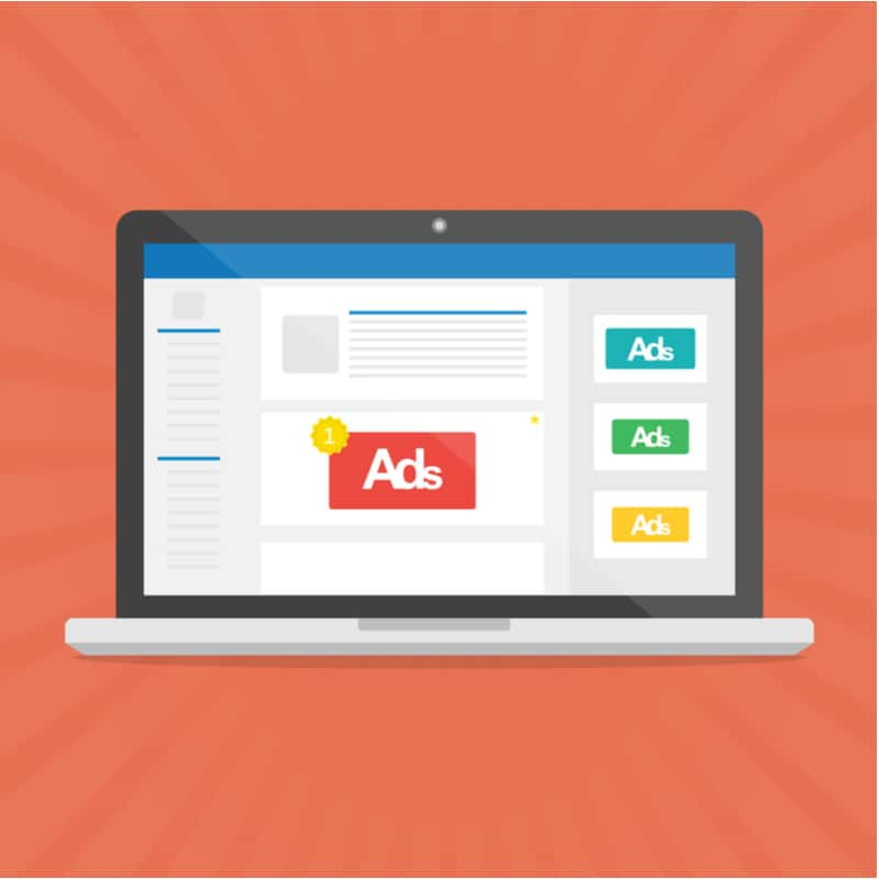 drawing of ads on a website