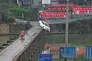 NEW DRIVER CRASHES HIS CAR INTO RIVER… 10 MINUTES AFTER PASSING THE DRIVING TEST