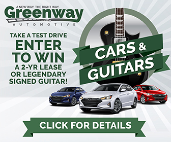 ENTER TO WIN! GREENWAY CARS & GUITARS