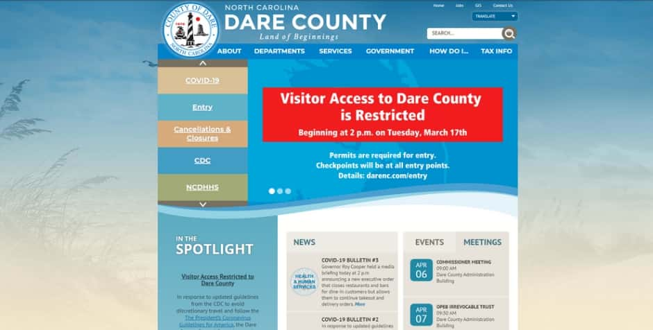 Dare County Coronavirus Update